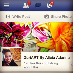 ZuriART Facebook Fan Page 195 likes!!!!